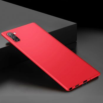 Ультратонкий красный чехол Silk Touch для Samsung Galaxy Note 10