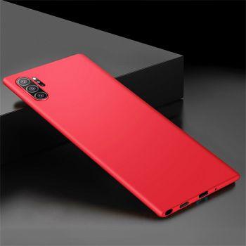 Ультратонкий красный чехол Silk Touch для Samsung Galaxy Note 10 Plus