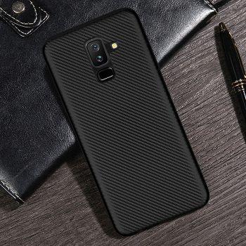 Cиликоновый чехол накладка Carbon Black для Samsung Galaxy A8 Plus