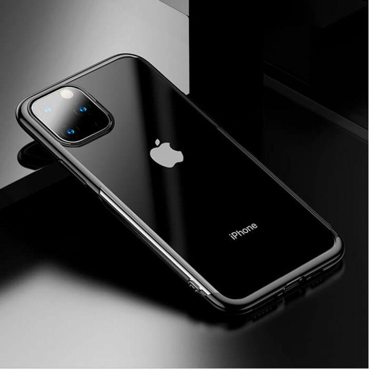 Яркий чехол бампер Golden для iPhone 11 Pro Max черный