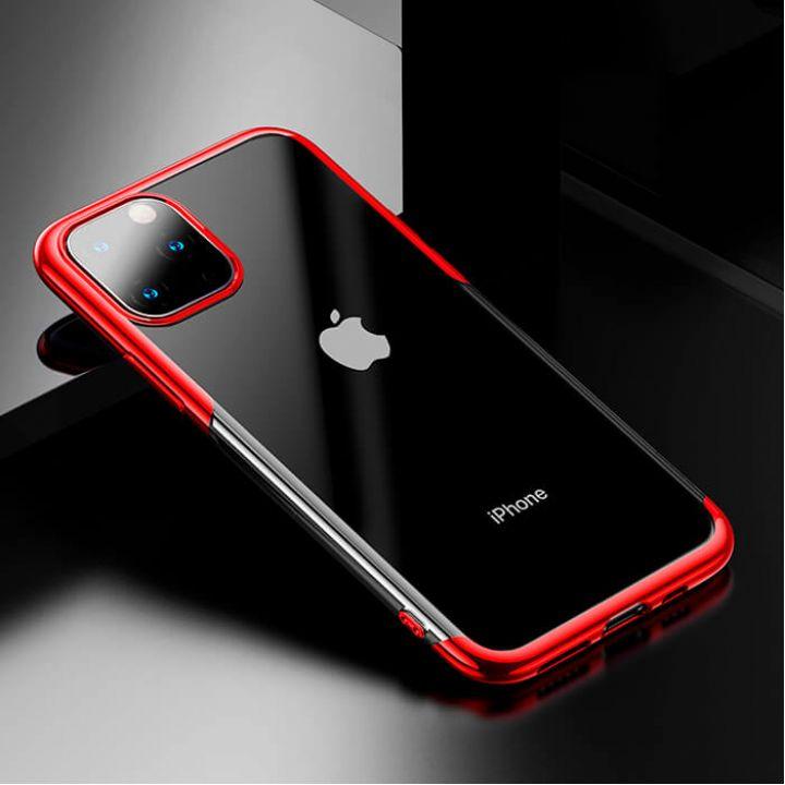Яркий чехол бампер Golden для iPhone 11 Pro Max красный