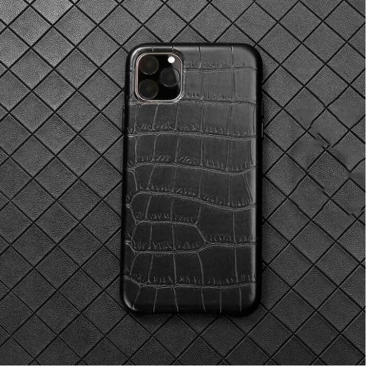 Чехол из натуральной кожи LEATHER CROCO для iPhone 11