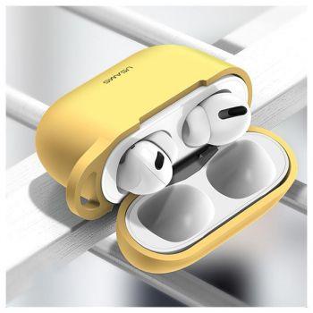 Желтый силиконовый защитный чехол от Usams для AirPods Pro (US-BH568)