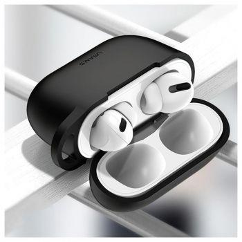 Черный силиконовый защитный чехол от Usams для AirPods Pro (US-BH568)