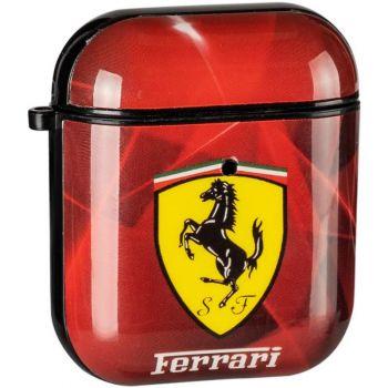 Красный защитный чехол из силикона Brand Ferrari для AirPods