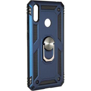 Противоударный синий чехол Defence с кольцом от Honor для Huawei Y7 (2019)
