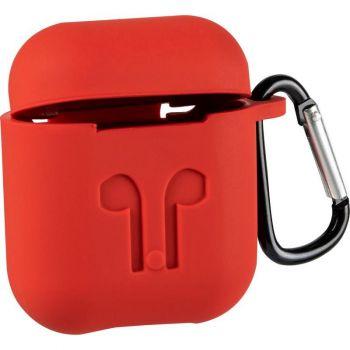 Красный силиконовый чехол от Floveme для AirPods