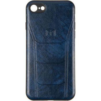 Чехол с текстурой под кожу Prime для Xiaomi Redmi Note 8 синий