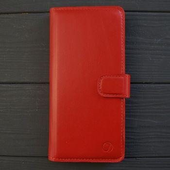 Классический кожаный чехол книжка ручной работы Elite для Huawei Y8P от Jitnik, красная