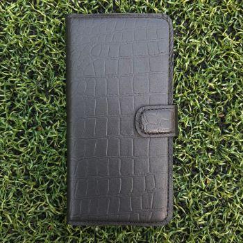 Кожаный чехол ручной работы Crocodille для Samsung A606 (A60) от Jitnik, черный