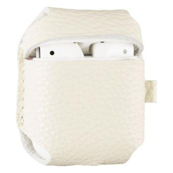 Белый кожаный чехол для AirPods