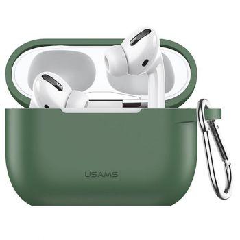 Зеленый силиконовый защитный чехол от Usams для AirPods Pro (US-BH568)