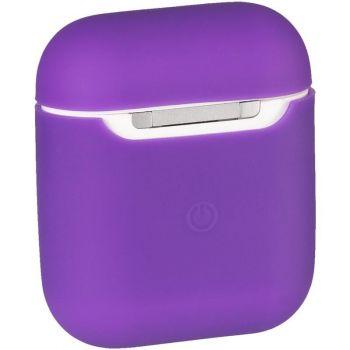 Фиолетовый силиконовый чехол от Floveme для AirPods
