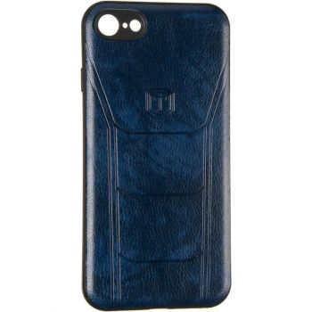 Чехол с текстурой под кожу Prime для Samsung M105(M10) синий