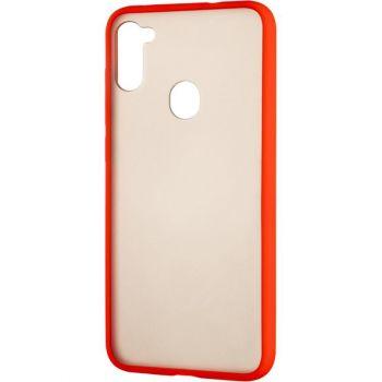 Защитный матовый чехол Yoho для Samsung A115 (A11) красный