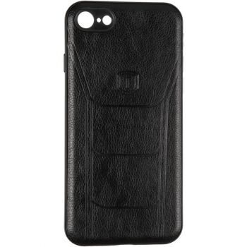 Чехол с текстурой под кожу Prime для Xiaomi Redmi 8 черный