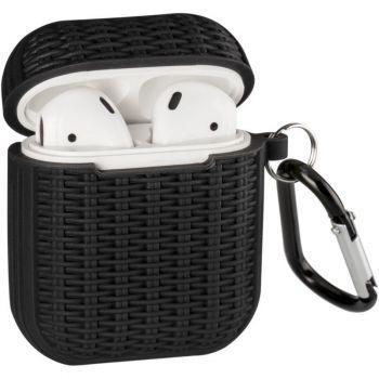 Черный силиконовый чехол Weaving от Floveme для AirPods