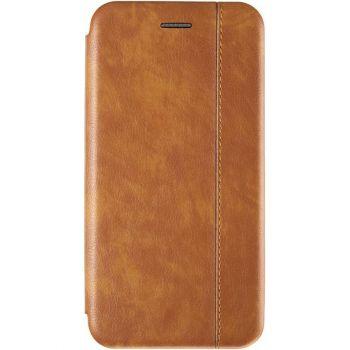 Золотая кожаная книжка Cover Leather от Gelius для Samsung M015 (M01)