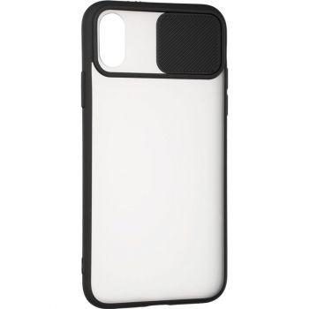 Защитная накладка с закрытой камерой для iPhone 12 Pro черный