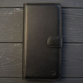 Классический кожаный чехол книжка ручной работы Elite для Huawei Honor 20 от Jitnik, черная