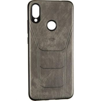 Чехол с текстурой под кожу Prime для Samsung M105(M10) серый