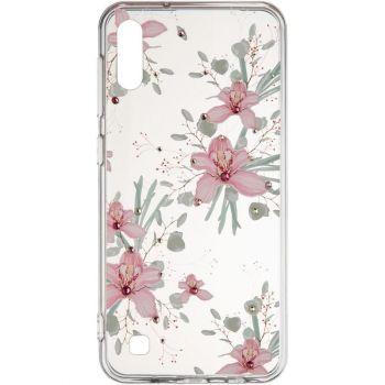 """Cиликоновая накладка с камушками """"Орхидея"""" от Younicou для Samsung A805 (A80)"""