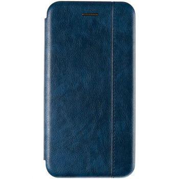 Синяя кожаная книжка Cover Leather от Gelius для Xiaomi Redmi Note 9