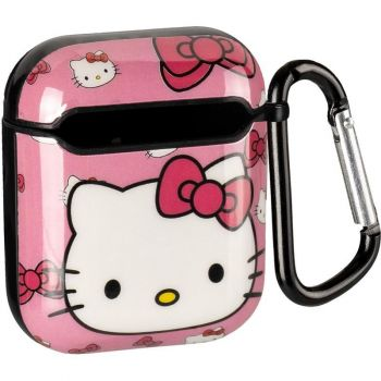 Розовый защитный чехол из силикона Brand Hello Kitty для AirPods