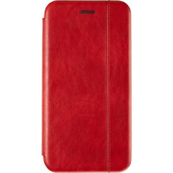 Красная кожаная книжка Cover Leather от Gelius для Xiaomi Redmi Note 8