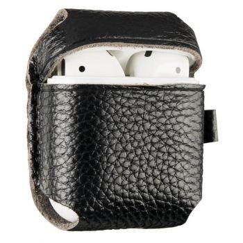 Черный кожаный чехол для AirPods