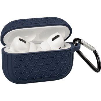Синий силиконовый защитный чехол Tire для AirPods Pro