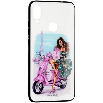 Накладка с девушкой (принт №4) от Floveme для Samsung M215 (M21)