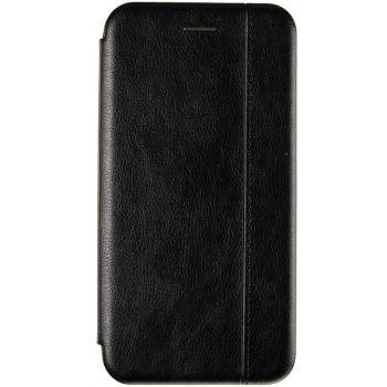 Черная кожаная книжка Cover Leather от Gelius для Xiaomi Redmi Note 9