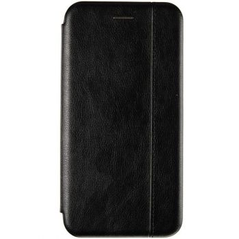 Черная кожаная книжка Cover Leather от Gelius для Xiaomi Redmi 9