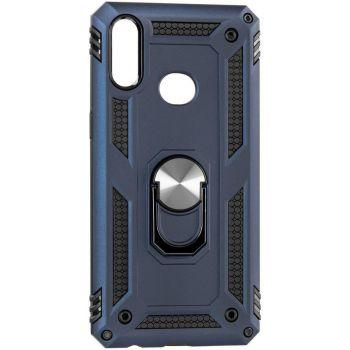 Противоударный синий чехол Defence с кольцом от Honor для Huawei P40 Lite