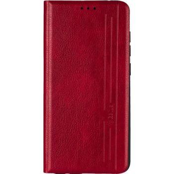 Кожаная книжка Cover Leather от Gelius для iPhone 12 Mini красный