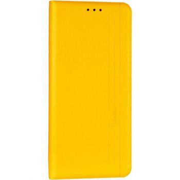 Кожаная книжка Cover Leather от Gelius для Huawei P Smart (2021) желтый