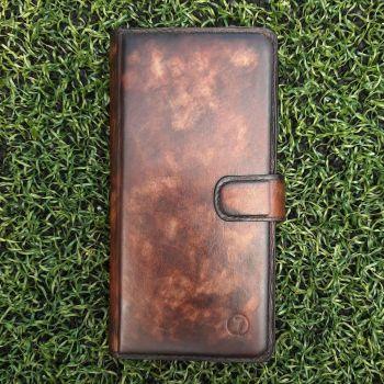 Эксклюзивный чехол ручной работы Marmure для Samsung A606 (A60) от Jitnik, коричневый