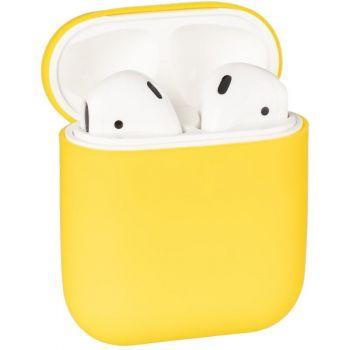 Желтый силиконовый чехол от Floveme для AirPods