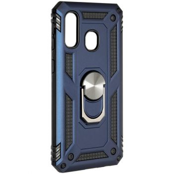 Противоударный синий чехол Defence с кольцом от Honor для Samsung A405 (A40)