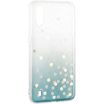 Чехол зеленый градиент с блестками Crystal Shine от Aspor для Samsung A015 (A01)