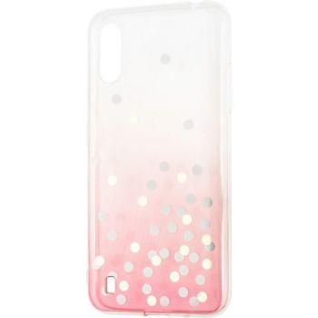 Чехол розовый градиент с блестками Crystal Shine от Aspor для Samsung A015 (A01)