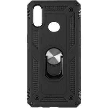 Противоударный черный чехол Defence с кольцом от Honor для Samsung A015 (A01)