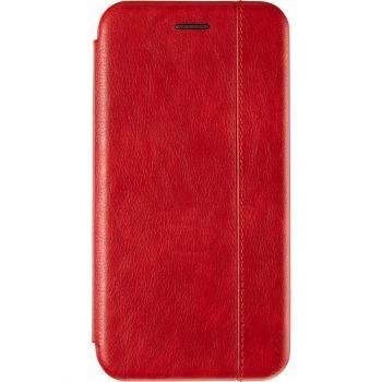 Красная кожаная книжка Cover Leather от Gelius для Huawei P40 Lite E