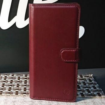 Классический кожаный чехол книжка ручной работы Elite для Huawei Y8P от Jitnik, бордо