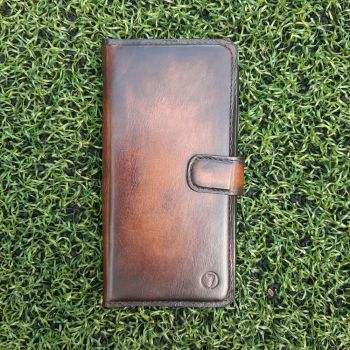 Винтажный кожаный чехол книжка Exclusive для Meizu M8c от Jitnik, коричневый