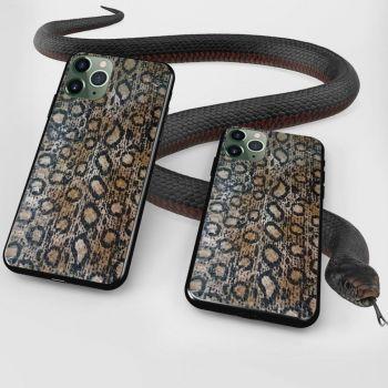Чехол из натуральной кожи змеи от Jitnik для Samsung A715 (A71)
