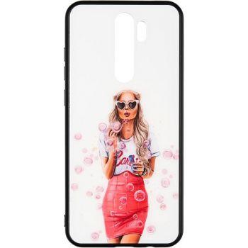 Накладка с девушкой (принт №2) от Floveme для Samsung M215 (M21)