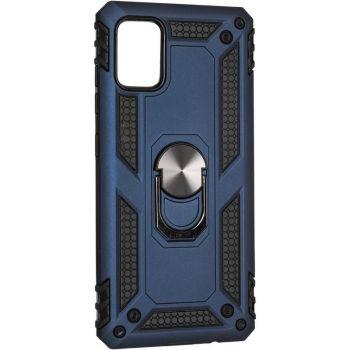 Противоударный синий чехол Defence с кольцом от Honor для Samsung A515 (A51)