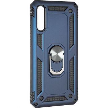 Противоударный синий чехол Defence с кольцом от Honor для Samsung A705 (A70)